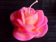 autres fleurs bougie decoration table cire : Bougie Rose GM