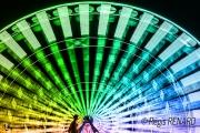 photo villes light painting couleurs grande roue manege : Cercle chromatique