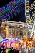 photo villes light painting couleurs courtrai grande roue : Esprit de fête