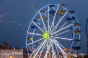 photo villes lumieres architecture grande roue noel : Taille XXL