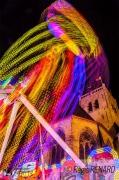 photo villes light painting lumieres couleurs manege : Lance flamme