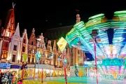 photo villes light painting lumieres manege fete foraine : Poésie d un soir, arrêt sur image