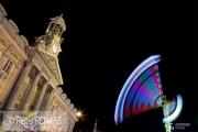 photo villes light painting couleurs manege fete foraine : Projecteur monumental