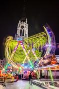 photo villes light painting lumieres couleurs manege : Parvis aux mille rayons de lumière