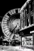 photo villes light painting lumieres manege grande roue : Réjouissances hivernales