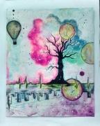 dessin scene de genre arbre de vie : Évasion