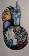 dessin personnages femme chandelle : La veilleuse