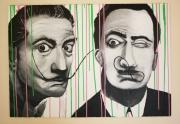 tableau personnages salvador dali portrait popart : Dali