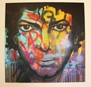 tableau personnages portrait michael jackson hommage bad : Michael Jackson