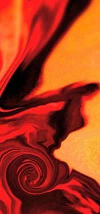 Art abstrait rouge