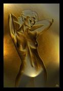 mixte nus nu femme or : Nu or