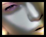 art numerique personnages portrait visage femme : Plan visage