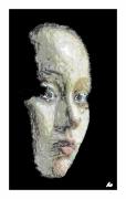 art numerique personnages visage : Vibrant visage