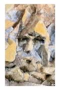 mixte autres tete pierre : penseur pétrifié
