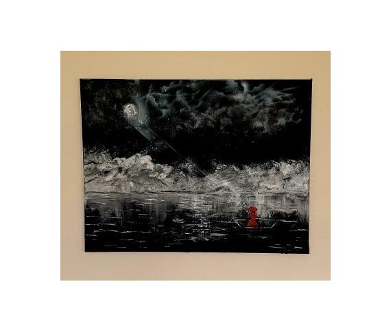 TABLEAU PEINTURE Abstrait Acrylique  - L'inconnue en rouge 7