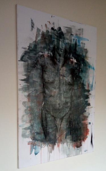 TABLEAU PEINTURE Abstrait Acrylique  - L'homme