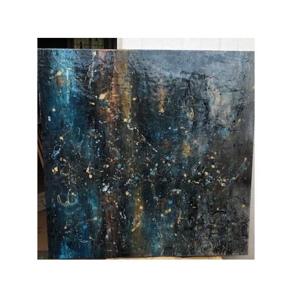 TABLEAU PEINTURE Abstrait  - Lapis-lazuli 1