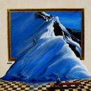 tableau sport alpinisme ecrins rateau surrealisme : Invitation