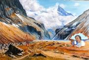 tableau paysages dalí isere oisans la berarde : Dalí et les Alpes