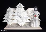 sculpture personnages blancheneige pomme livre conte : Blancheneige