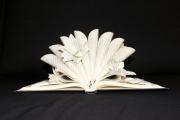 sculpture paysages livre papier paysage fleur : Rêve de Polynésie