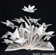 sculpture fleurs marguerite fleur livre papillons : Elle s'appelait Marguerite....