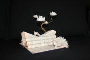 sculpture animaux paon paons zen japon : Ceci est un jardin japonais