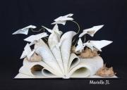 artisanat dart fleurs fleur nature jardin livre : Un jardin sorti d'un livre...