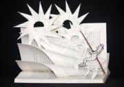 sculpture personnages quichotte cervantes litterature livre : Don Quichotte
