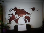 artisanat dart animaux planisphere carte du monde ours polaire wood world map : Planisphère ajouré - Ours polaire