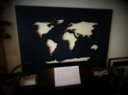 artisanat dart autres planisphere en bois carte du monde wood world map map monde : Planisphère - Noir d'encre