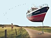 art numerique marine champs bateau volant : Cabotage