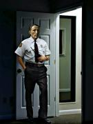 art numerique personnages policier porte interieur : Bermans policeman