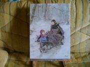 tableau paysages paysage neige enfants : un autre temps