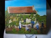 tableau paysages : vendange d 'autrefois
