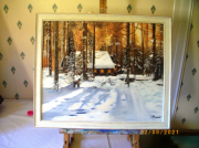 tableau paysages : hiver sous la neige