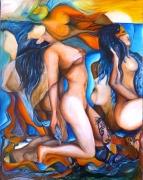 tableau personnages nues femmes fantastique picasso : les demoiselles de Sernhac