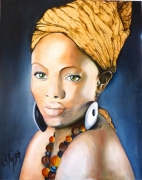 tableau personnages africaine or : l'africaine