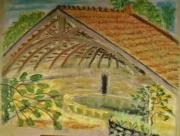 artisanat dart paysages village lavoir patrimoine : Le lavoir de Blécourt village fleuri