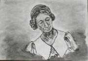 artisanat dart personnages portrait : Jeanne Mance