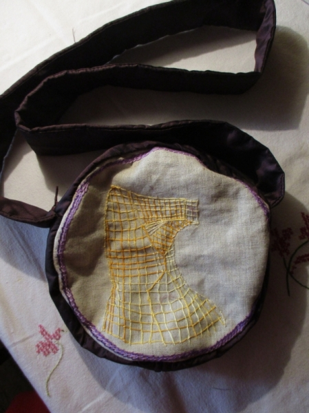 ART TEXTILE, MODE Sac Broderie Animaux  - Sac besace