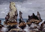 tableau marine bretagne belleile aiguilles port coton : Aiguilles de Port Coton