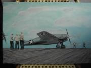 """tableau scene de genre avion wildcat seconde guerre : wildcat""""rosenblatt's reply"""""""