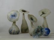 ceramique verre abstrait nature fleur danse terre : Le sonor de la nature