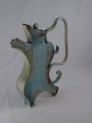 ceramique verre abstrait bleu dance forme tere : Tea Dance