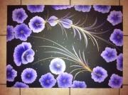 tableau fleurs : La noche