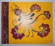 tableau fleurs : Henné