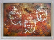 tableau personnages bouddha abstrait zen : Zenitude