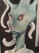 tableau personnages baroque moderne peinture ,a l hu toulouse portrait d extr : Portrait d'extraterrestre