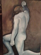tableau nus nu masculin toulouse peinture ,a l hu homme qui se leve : Homme qui se lève 2